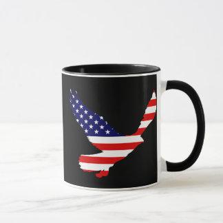 Drapeau américain chauve d'Eagle Mug