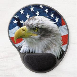 Drapeau américain chauve Mousepad d Eagle Tapis De Souris En Gel