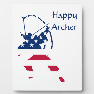 Drapeau américain d'archer de tir à l'arc des plaque photo