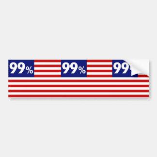 Drapeau américain de 99 % - occupez Wall Street Autocollant Pour Voiture