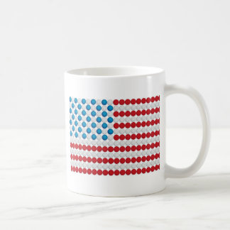 Drapeau américain de boule de golf mug