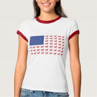Drapeau américain de chevaux patriotiques t-shirts