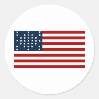 Drapeau américain de guerre civile de Sumter de Sticker Rond
