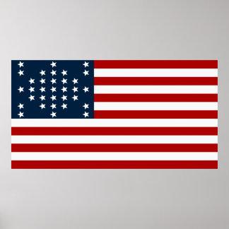 Drapeau américain de guerre civile de Sumter de fo Posters
