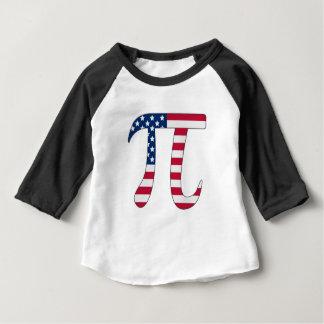 Drapeau américain de jour de pi, symbole de pi t-shirt pour bébé