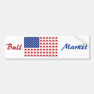 Drapeau américain de marché haussier de Wall Stree Autocollant De Voiture
