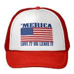 'Drapeau américain de MERICA - aimez-le ou laissez Casquette De Camionneur