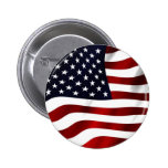 Drapeau américain de ondulation badge avec épingle