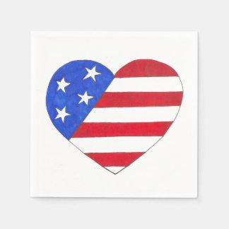 Drapeau américain des Etats-Unis d'étoiles de Serviettes En Papier