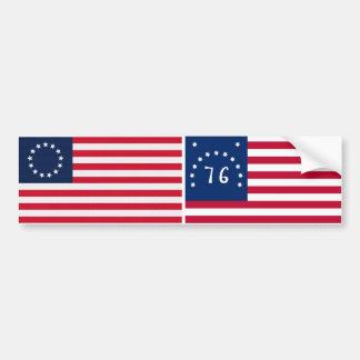 Drapeau américain d'étoiles de Betsy Ross 13 Autocollant De Voiture