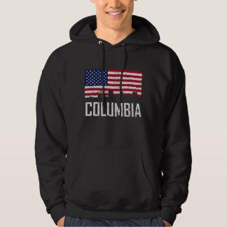 Drapeau américain Dist d'horizon de Colombie la Veste À Capuche