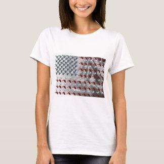 Drapeau américain d'oiseau en vol t-shirt