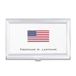 Drapeau américain étui pour cartes de visite