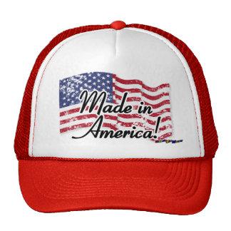 Drapeau américain - fabriqué en Amérique ! - affli Casquette