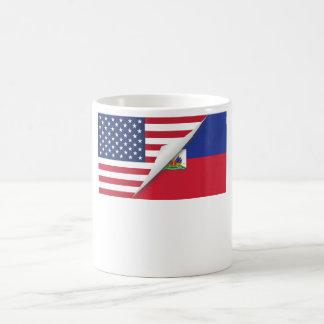 Drapeau américain haïtien mug