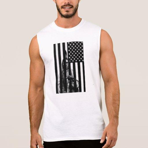 Drapeau américain INDIEN T-shirt Sans Manches