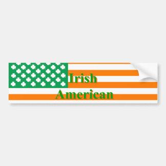 Drapeau américain irlandais autocollant pour voiture