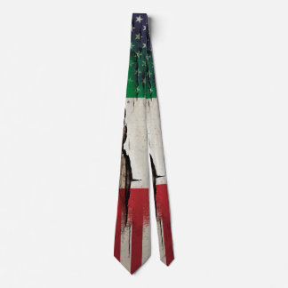 Drapeau américain italien de la peinture | de cravate