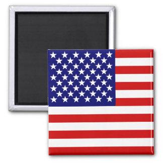 Drapeau américain magnet carré