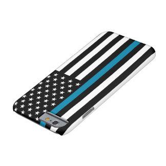 Drapeau américain mince de Blue Line Coque Barely There iPhone 6