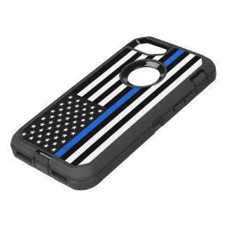 Drapeau américain mince de Blue Line Coque Otterbox Defender Pour iPhone 7