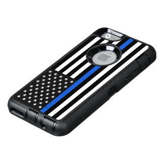 Drapeau américain mince de Blue Line Coque OtterBox iPhone 6/6s