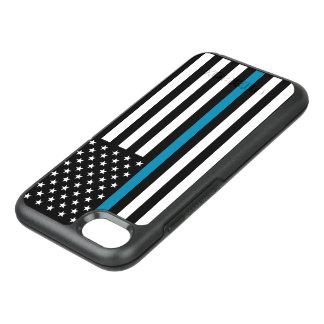 Drapeau américain mince de Blue Line Coque Otterbox Symmetry Pour iPhone 7