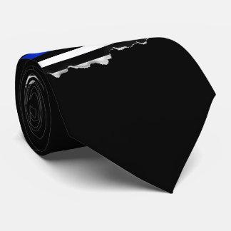 Drapeau américain mince de Blue Line Cravates