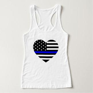 Drapeau américain mince de Blue Line - le T-shirt