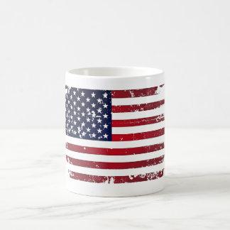 Drapeau américain mug blanc