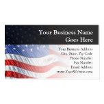 Drapeau américain, ondulant en vent cartes de visite personnelles