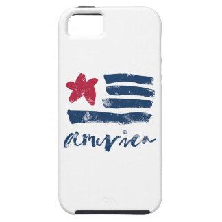 Drapeau américain Paintstrokes iPhone 5 Case
