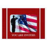 Drapeau américain patriotique avec le soldat de vé bristols personnalisés