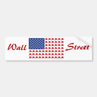 Drapeau américain patriotique de Wall Street Autocollant Pour Voiture
