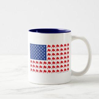 Drapeau américain patriotique de Wall Street Tasse 2 Couleurs