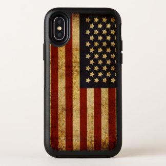 Drapeau américain patriotique grunge vintage des