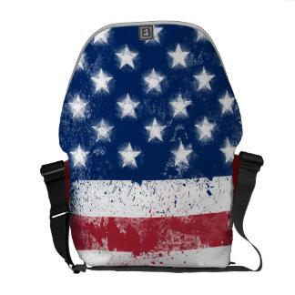 Drapeau américain peint par éclaboussure sacoches