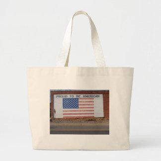 Drapeau américain peint sur le vieux bâtiment sac en toile jumbo
