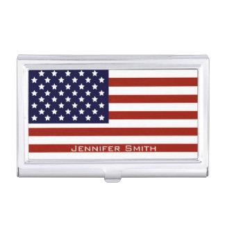 Drapeau américain personnalisable boîtier pour cartes de visite