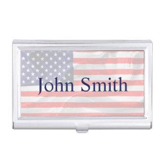 Drapeau américain personnalisable porte-cartes de visite