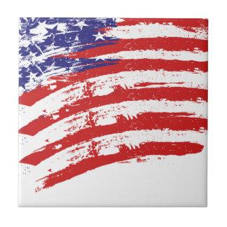 Drapeau américain petit carreau carré