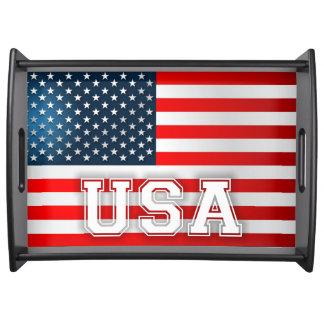 Drapeau américain plateau