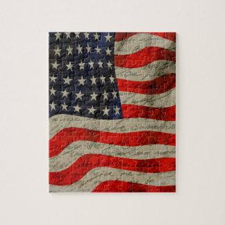 Drapeau américain puzzle