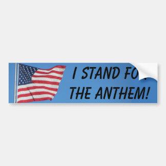 Drapeau américain que je représente l'hymne autocollant de voiture