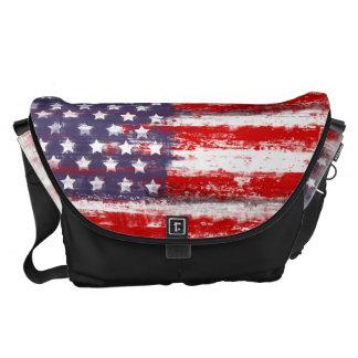 drapeau américain, sacoche