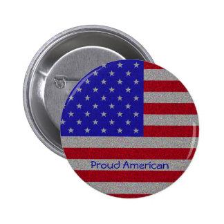 Drapeau américain scintillant pin's