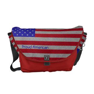 Drapeau américain scintillant sacoches