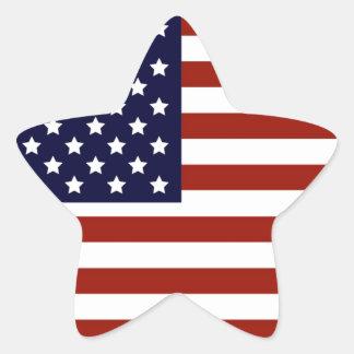 Drapeau américain sticker étoile