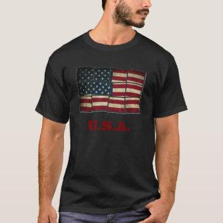 drapeau américain t-shirt