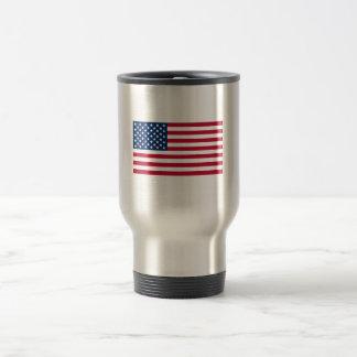 Drapeau américain mug de voyage en acier inoxydable